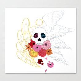 Feathers and Flowers Canvas Print
