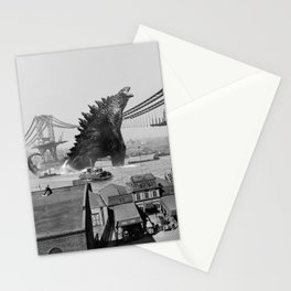 Old Time Godzilla Manhattan Bridge Stationery Cards