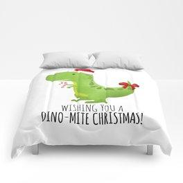 Wishing You A Dino-Mite Christmas Comforters