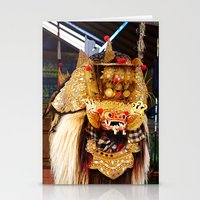 bali Stationery Cards featuring Bali Barong by Tjeerd  in 't Veen