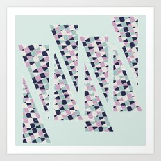 Mint Triangles Art Print