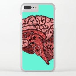 Brain Map Clear iPhone Case