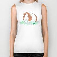 guinea pig Biker Tanks featuring Guinea Pig Clover by Elena O'Neill
