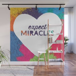 Expect Miracles Inspirational Print Wall Mural