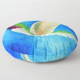Colorful Hummingbird Floor Pillow