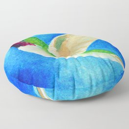 Colorful Hummingbird Floor Pillow
