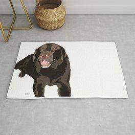 Labrador dog (black) Rug