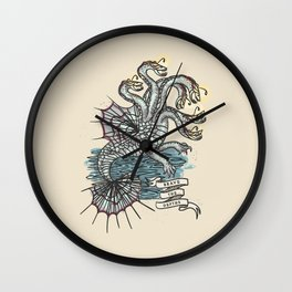 BRAVE THE DEPTHS Wall Clock