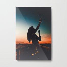 WOMAN - SUNRISE - SUNSET - LIGHTS - PHOTOGRAPHY Metal Print