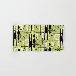 Retro Atomic Mid Century Pattern 771 Chartreuse Hand & Bath Towel