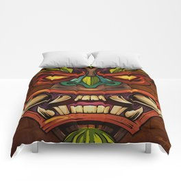 Tiki Head Style 4 Comforters