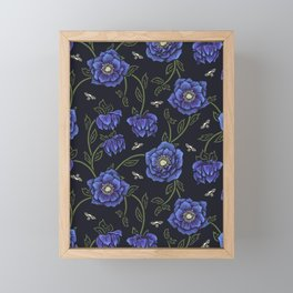 Midnight Hellebore Framed Mini Art Print