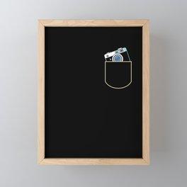 Camera In The Pocket Photography Gift Idea Framed Mini Art Print