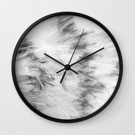 Marabou Feathers Wall Clock