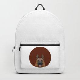 Low Poly German Shepherd Backpack