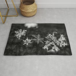 Clump of snowflakes Rug
