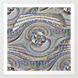 Las palabras Art Print