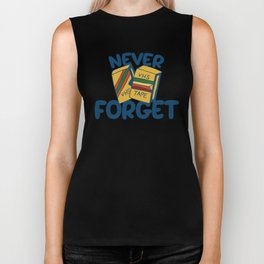 Never forget VHS tapes Biker Tank