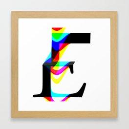 """The letter """"E"""" Framed Art Print"""
