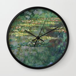 Water Lilies 1904 by Claude Monet Wall Clock