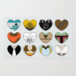 SW Character Hearts Rug