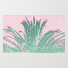 Palm Tree Leaves Tropical Vibes Design Rug