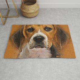Beagle dog digital art Rug