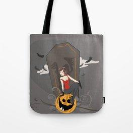 Pin Up Halloween Tote Bag