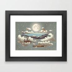 Ocean Meets Sky Framed Art Print