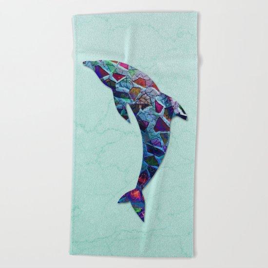Animal Mosaic - The Dolphin Beach Towel