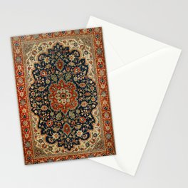 Central Persia 19th Century Authentic Colorful Dark Blue Red Tan Vintage Patterns Stationery Cards