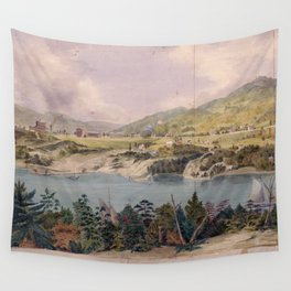 Panorama of West Point from Constitution Island by John Rubens Smith (c 1820) Wall Tapestry