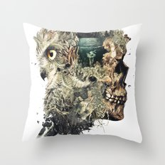 Forest Lake Dreams Throw Pillow