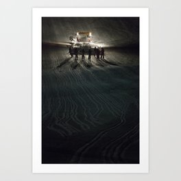 Epic cat light at Nine Knights 2014 Art Print