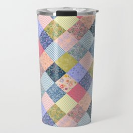 Bohemian diamond patchwork quilt Travel Mug