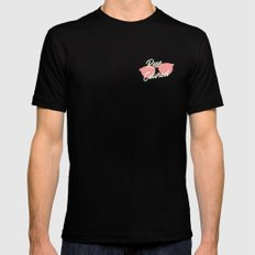 ROSE COLORED GLASSES Black Mens Fitted Tee MEDIUM