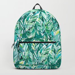 BANANA LEAF JUNGLE Green Tropical Backpack