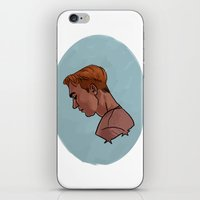 steve rogers iPhone & iPod Skins featuring Steve Rogers by Kaley Bales (polarbales)