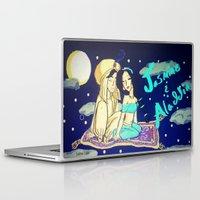 aladdin Laptop & iPad Skins featuring Jasmine & Aladdin  by NayomiArt