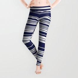 Navy stripes Leggings