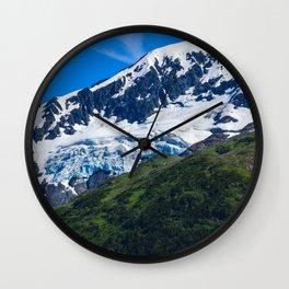 Whittier Glacier - 3 Wall Clock