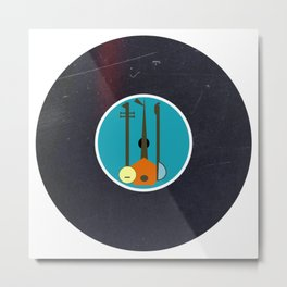 Vinyl Record Art & Design | Mid-Century Modern Music Instruments Metal Print