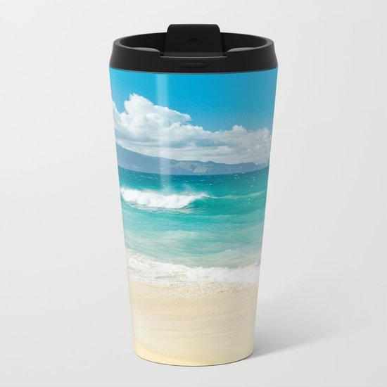 Hawaii Beach Treasures Metal Travel Mug