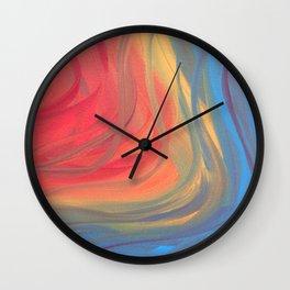 Ribbons of Imagination Wall Clock