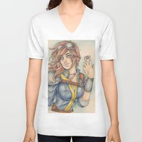 fallout V-neck T-shirts featuring Fallout by foxandolive