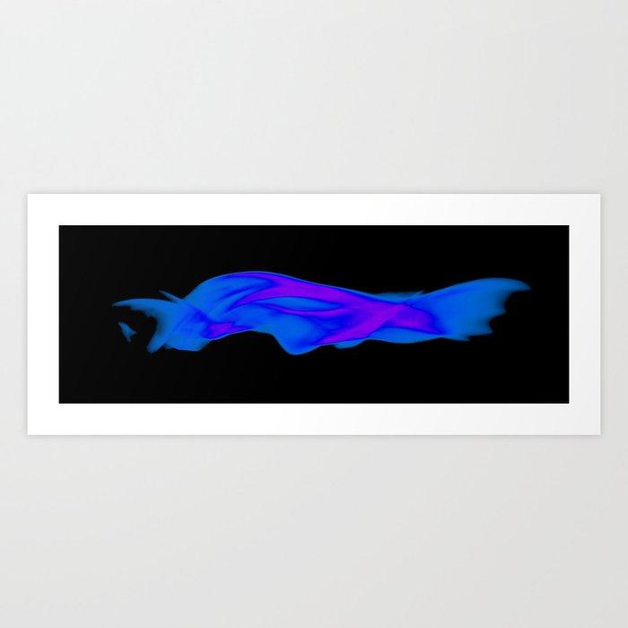 """""""Blue Fire Shark"""" Art Print"""