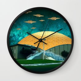 gold dome mothership Wall Clock