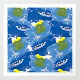 Sailing on Stormy Seas Art Print