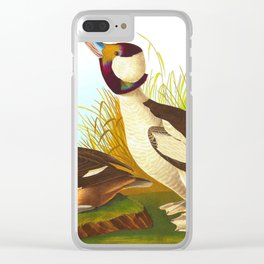 Buffel Headed Duck John James Audubon Vintage Scientific Birds Of America Illustration Clear iPhone Case