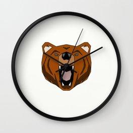 Geometric Bear - Abstract, Animal Design Wall Clock